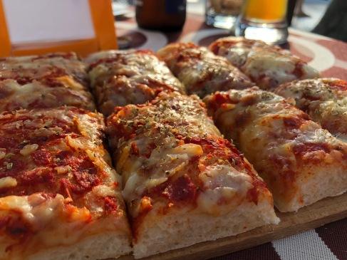 Foccacia pizza as an antipasti